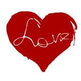 Coração Desenho da mão Fotos de Stock Royalty Free