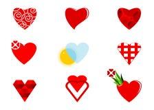 Coração do ícone Fotografia de Stock Royalty Free