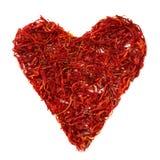 Coração do aç6frão Imagem de Stock Royalty Free