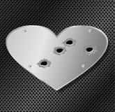 Coração do aço Foto de Stock Royalty Free
