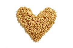 Coração do amendoim Imagens de Stock