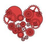 Coração do amor da engrenagem Fotografia de Stock