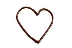 Coração do amor do chocolate Imagem de Stock Royalty Free