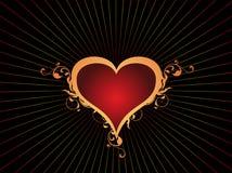 Coração do amor do dia de Valentim Imagens de Stock