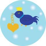 Coração do amor do pássaro Imagem de Stock