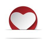 Coração do amor .eps10 Imagens de Stock
