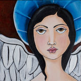 Coração do anjo Fotografia de Stock Royalty Free