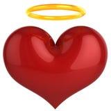 Coração do anjo. Conceito santamente do amor (alugueres) Fotografia de Stock Royalty Free