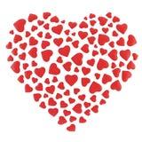Coração do anjo em um fundo branco Fotos de Stock Royalty Free