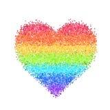 Coração do arco-íris do brilho Fotografia de Stock Royalty Free