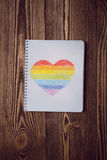 Coração do arco-íris do desenho Fotografia de Stock Royalty Free