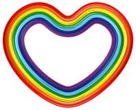 Coração do arco-íris isolado. Ilustração do vetor Foto de Stock Royalty Free