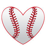 Coração do basebol ilustração royalty free