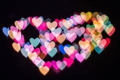 Coração do bokeh e do borrão Foto de Stock Royalty Free