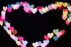 Coração do bokeh e do borrão Fotografia de Stock