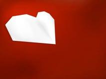 Coração do branco do dia de Valentim. + EPS8 Imagens de Stock Royalty Free