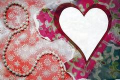 Coração do branco do vintage foto de stock royalty free
