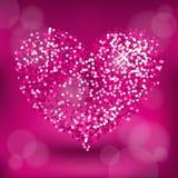 Coração do brilho Foto de Stock Royalty Free