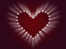 Coração do brilho Fotos de Stock