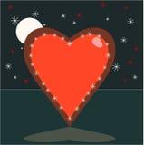 Coração do céu Fotografia de Stock