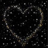 Coração do céu estrelado Fotografia de Stock