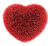 Coração do cabelo liso Imagens de Stock
