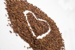 Coração do café Foto de Stock Royalty Free