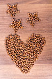 Coração do café Fotos de Stock