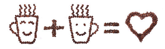 Coração do café Imagens de Stock