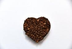 Coração do café Fotografia de Stock Royalty Free