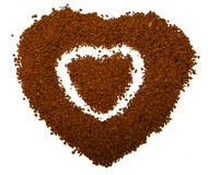 Coração do café - amor macio Fotografia de Stock