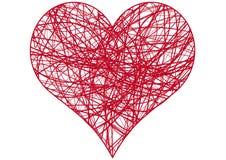 Coração do caos, vetor Foto de Stock Royalty Free