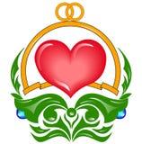 Coração do casamento Fotografia de Stock Royalty Free