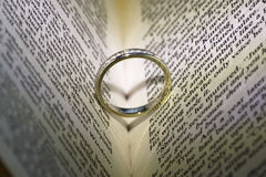 Coração do casamento do anel Foto de Stock