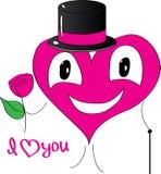 Coração do cavalheiro com flor Foto de Stock Royalty Free