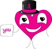 Coração do cavalheiro eu te amo Imagem de Stock