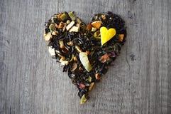 Coração do chá fotos de stock