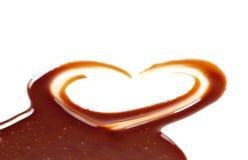 Coração do chocolate fotografia de stock royalty free