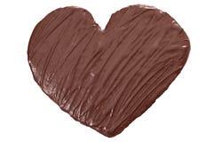 Coração do chocolate de Homade Fotos de Stock Royalty Free