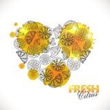 coração do citrino ilustração stock