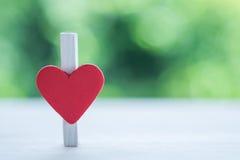 Coração do clipe de papel Foto de Stock