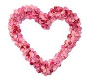 Coração do Confetti fotografia de stock royalty free