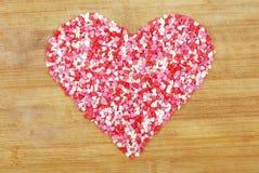 Coração do contorno dos corações pequenos fotos de stock royalty free
