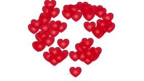 Coração do coração, vídeo do amor ilustração stock