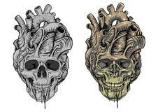 Coração do crânio Fotografia de Stock Royalty Free