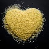 Coração do cuscuz Imagem de Stock