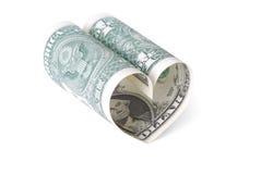 Coração do dólar Imagens de Stock