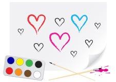 Coração do desenho Fotografia de Stock