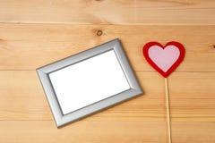 Coração do dia de Valentim e quadros vazios da foto Fotografia de Stock