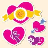 Coração do dia do Valentim. Eu te amo sinal Imagens de Stock
